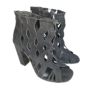Torrid Heels Size 11 Wide Black Cut Out Zipper